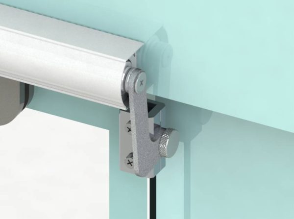 sliding door closers for frameless glass doors
